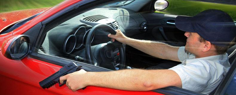 Schreckschuss Im Auto